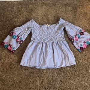 Off the shoulder LOFT blouse
